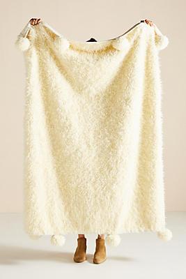 Slide View: 1: Bailey Faux Fur Throw Blanket