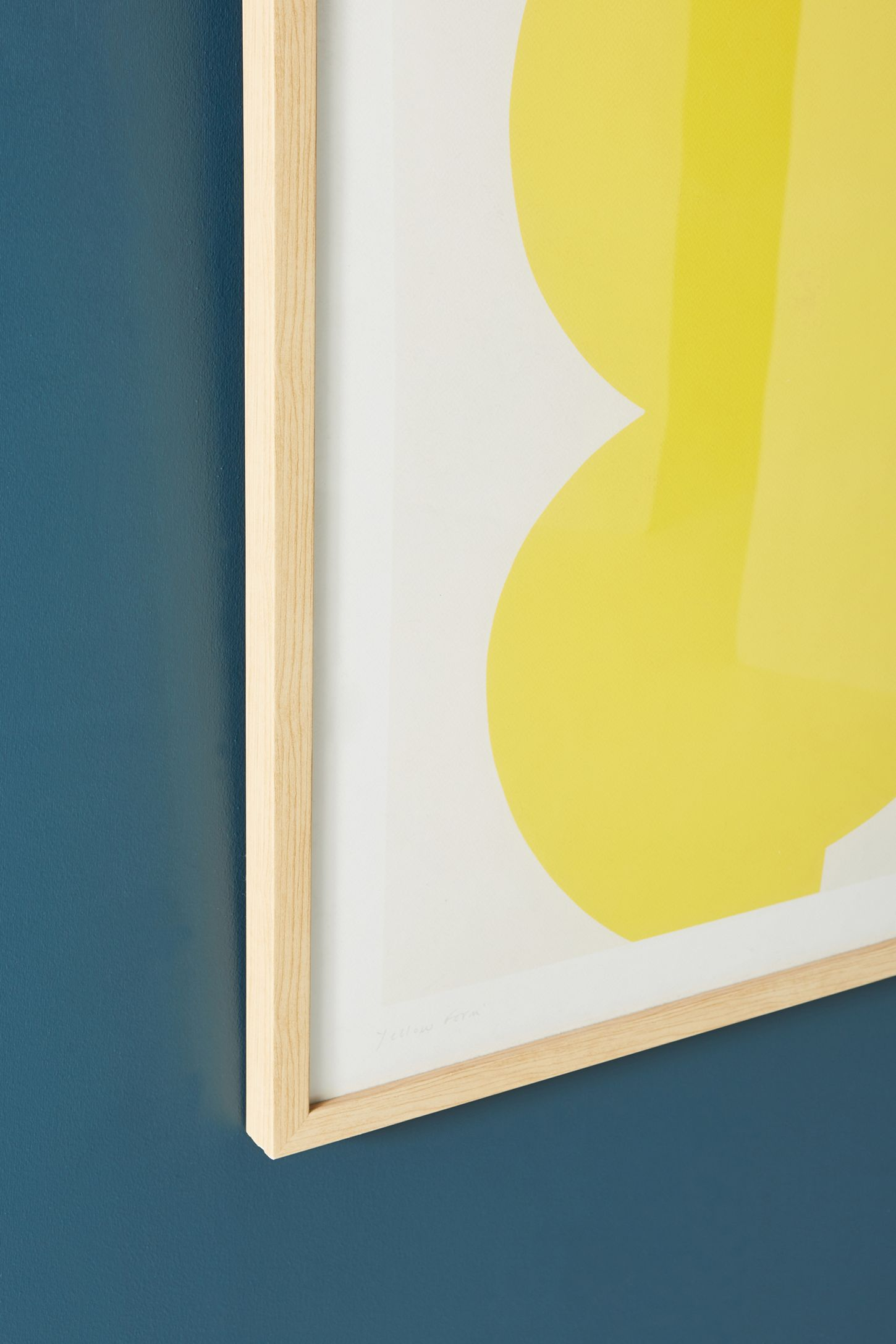 Yellow Form Wall Art | Anthropologie