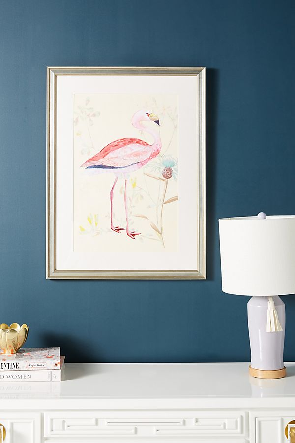 Slide View: 1: Flamingo Wall Art