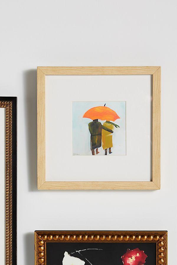 Umbrella Couple Wall Art   Anthropologie