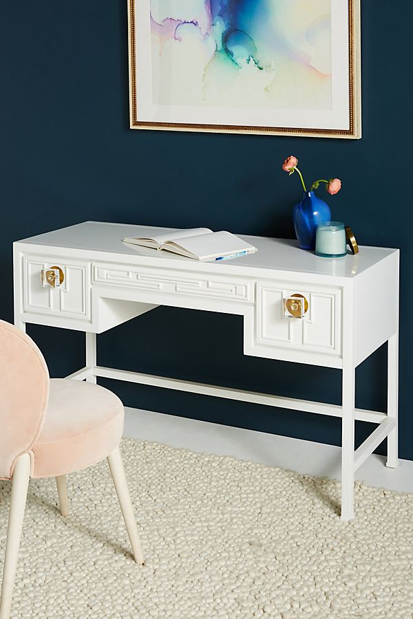 Lacquered Carre Desk | Anthropologie
