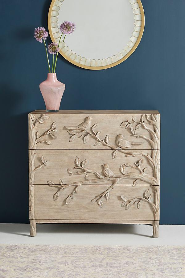 Orinthology Three-Drawer Dresser - Beige