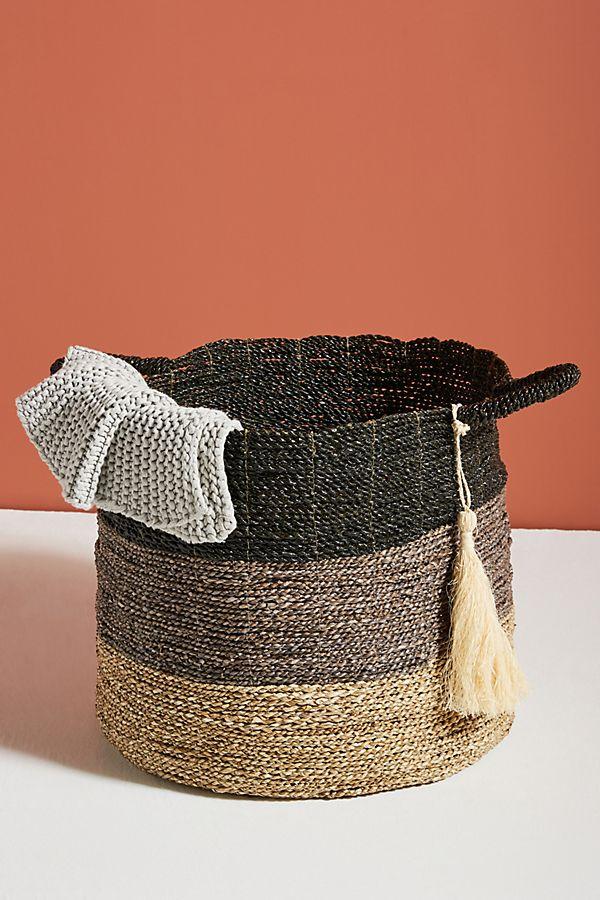 Slide View: 1: Handmade Seagrass Basket