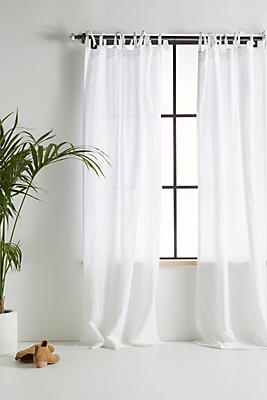 Slide View: 1: Cotton-Linen Curtain