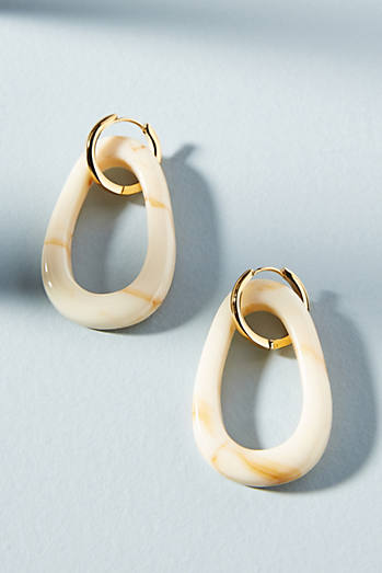 Amber Sceats Lynx Resin Hoop Earrings xbqXK5G
