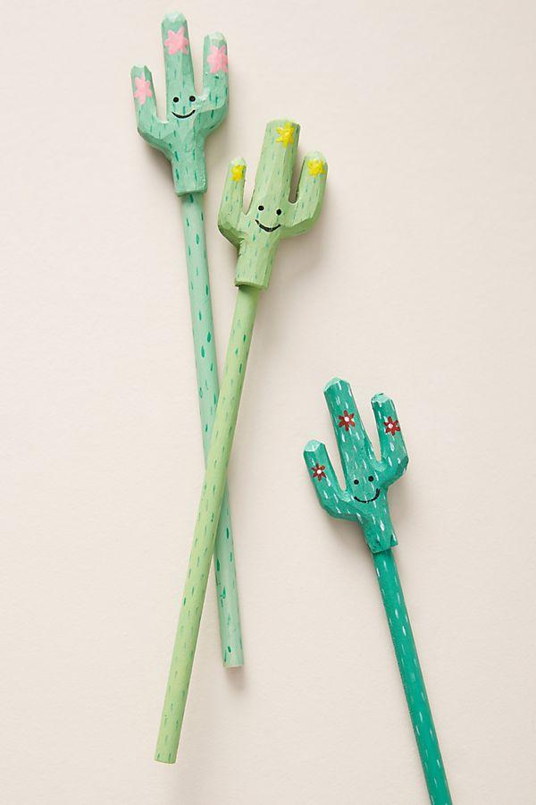 Desert cactus pencils