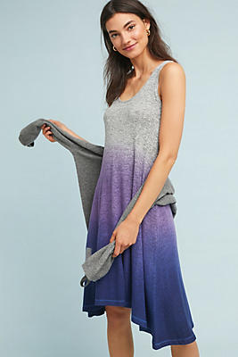 Slide View: 1: Ombre-Striped Brushed Fleece Dress