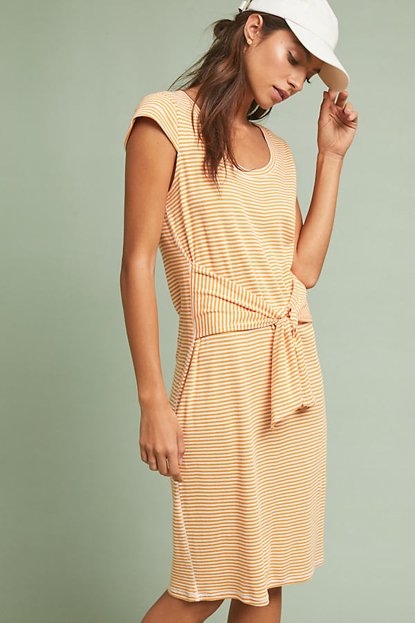 Audny Striped Tie-Front Dress - Assorted, Size M