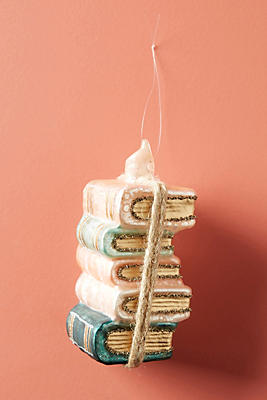 Slide View: 2: Book Stack Ornament