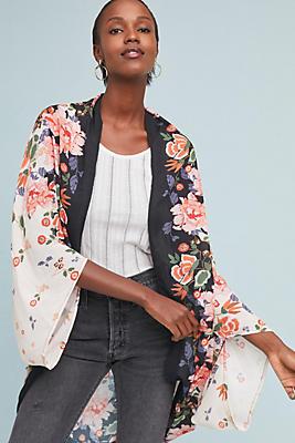 Slide View: 1: Gardener Floral Kimono