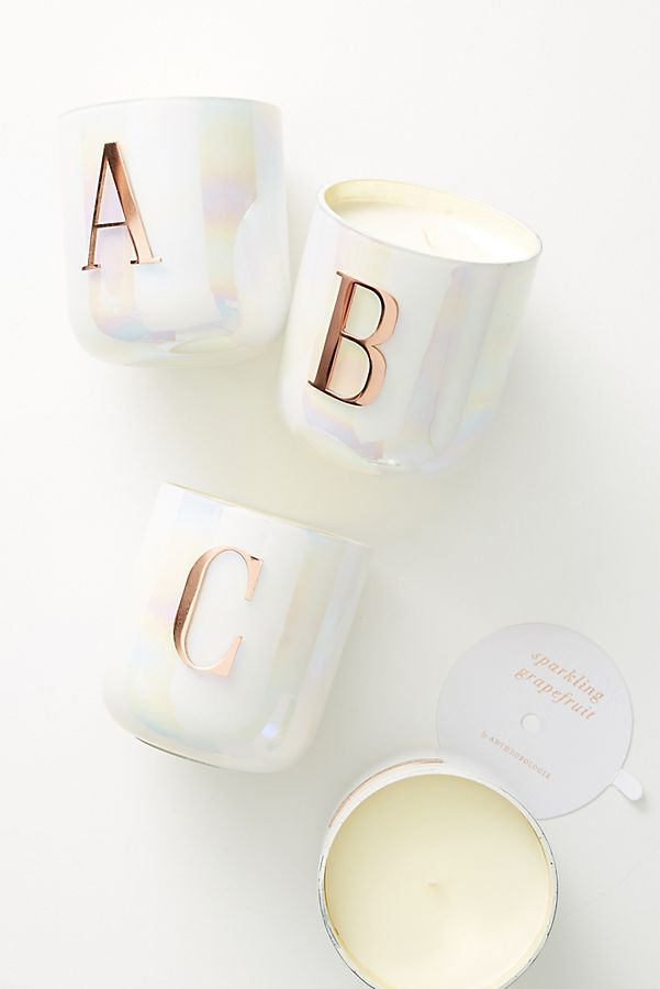Monogram Candle | Anthropologie