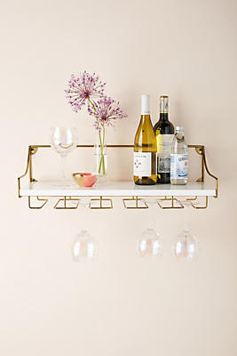 Slide View: 1: Mayfair Wall Mounted Wine Glass Shelf