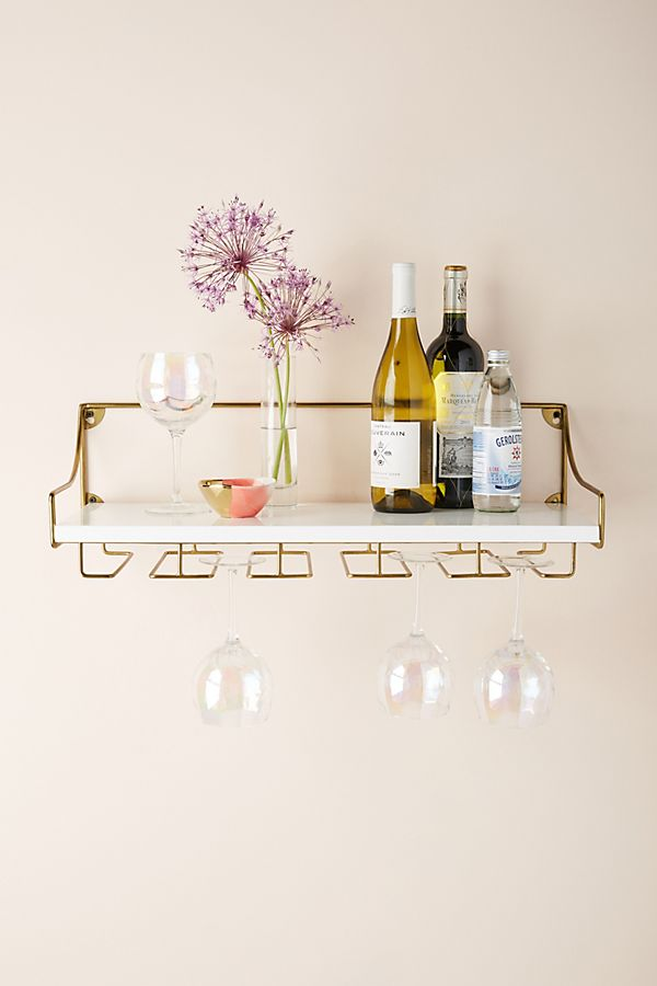Wall Mounted Wine Glass Shelf | Anthropologie