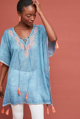 Sao Paulo Tasseled Caftan by Anthropologie