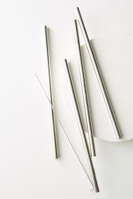 Ever Eco 4 Pack Stainless Steel Straws by Ever Eco