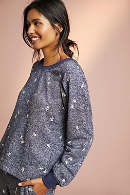 Slide View: 1: Lorena Floral Sweatshirt