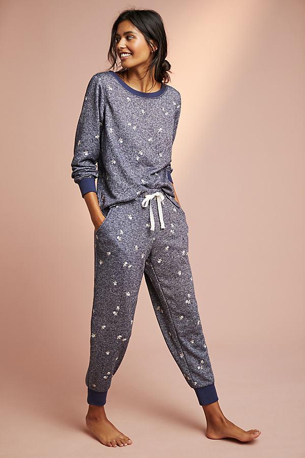 Lorena Floral Joggers - Grey, Size L