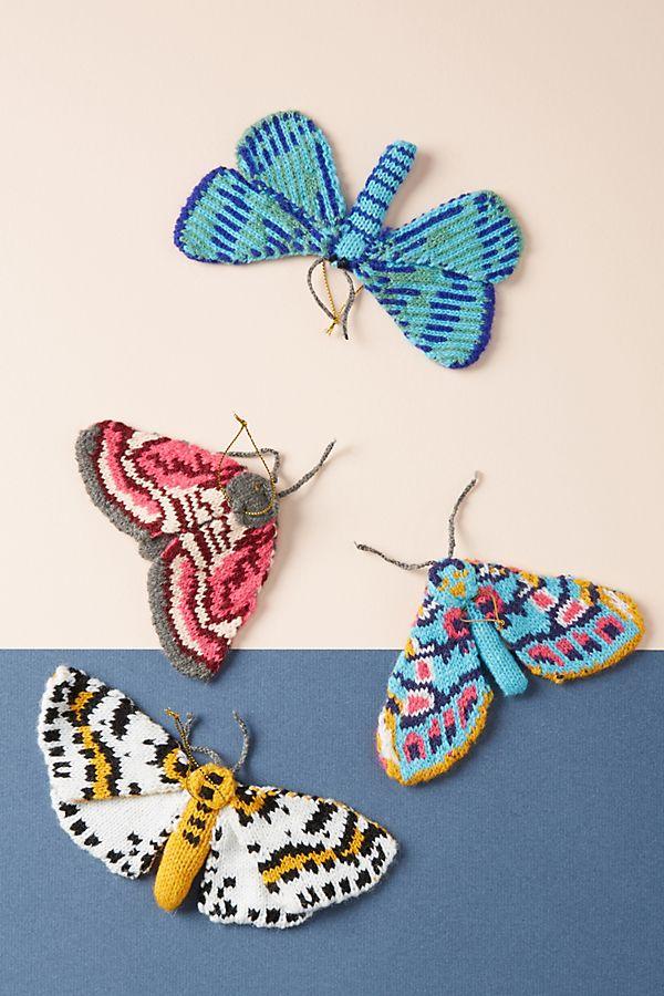Slide View: 2: Ornements Papillon, Set de 4