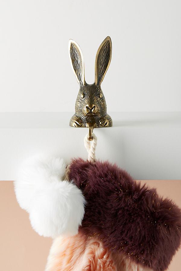 Rabbit Stocking Holder - Brown
