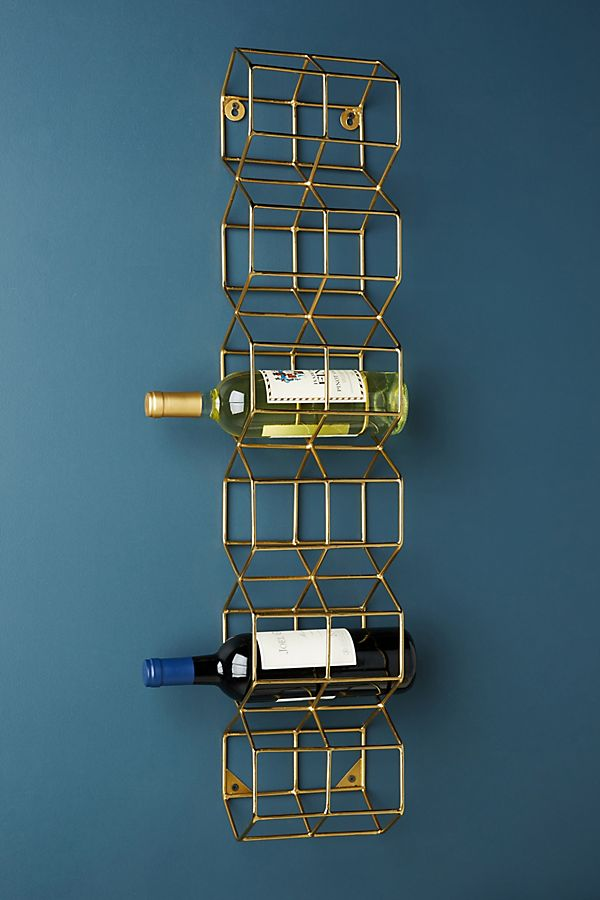 Slide View: 1: Thea Wall Mounted Wine Rack