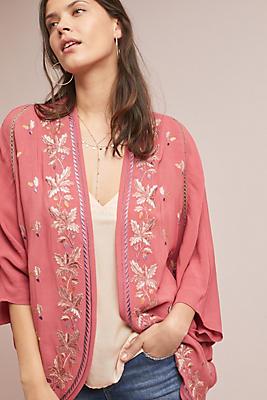 Slide View: 1: Amora Floral Kimono