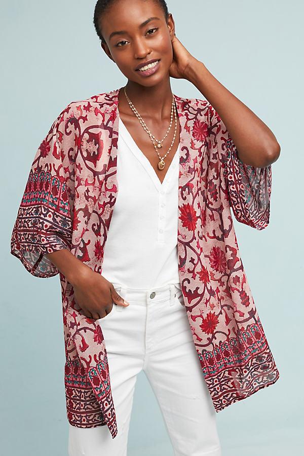 Rose Bush Kimono - Pink