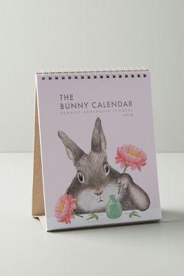 Bunny Desk Calendar by Anthropologie