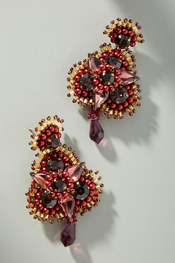 Anastasia Floral Drop Earrings | Anthropologie