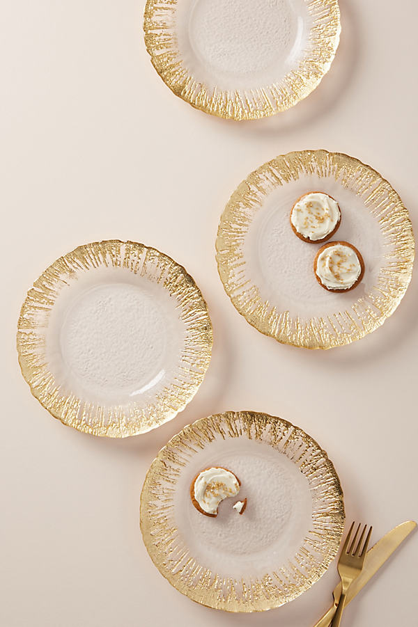 Thistlewhit Dessert Plate - Gold, Size Dst Plate