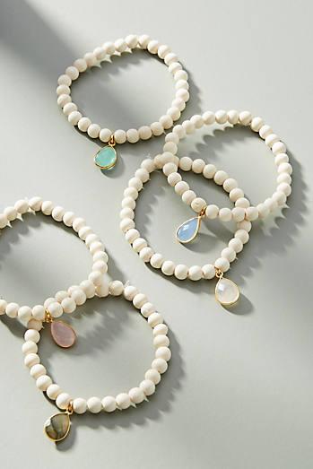 Anthropologie Pink-Tasseled Bracelet Set 7wMaraO