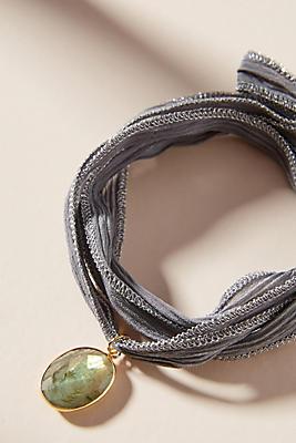 Jemma Sands Sadie Silk Wrap Bracelet tsbgVle