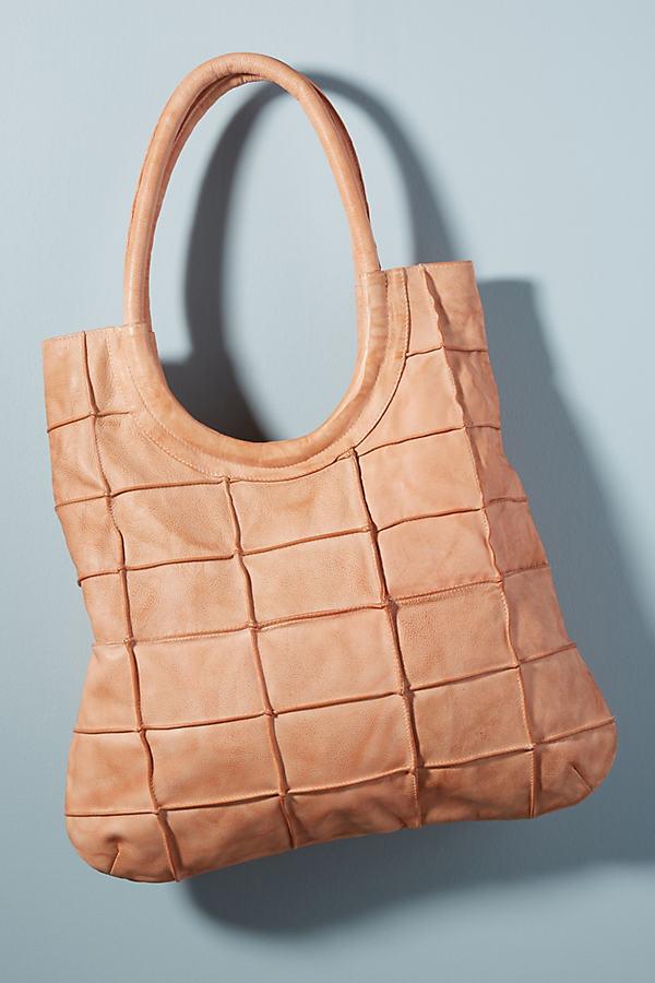 Illona Seamed Shoulder Bag - Pink