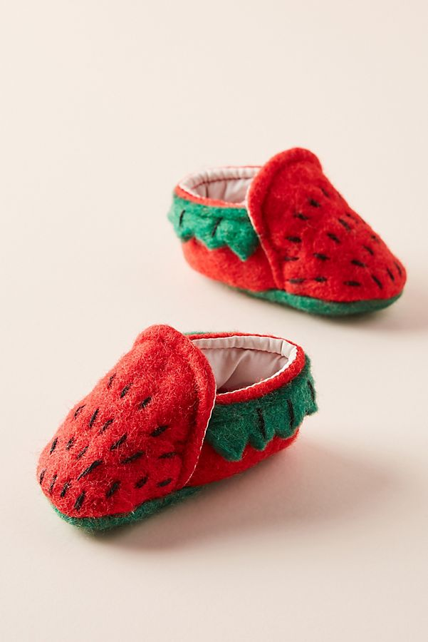 Slide View: 1: Strawberry Baby Booties