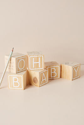 Slide View: 1: New Baby Building Block Guest Book