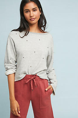 Slide View: 1: Sundry Studded Sweatshirt