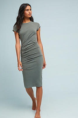 Slide View: 1: Sundry Ruched T-Shirt Dress