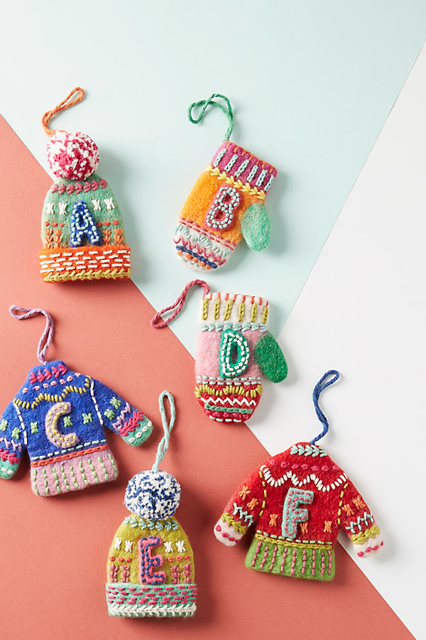 Bundled-Up Monogram Ornament - Assorted, Size Z