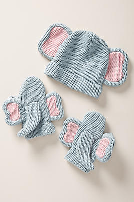 Slide View: 1: Wild Ones Hat and Mittens Set