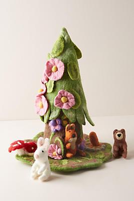 Slide View: 1: Gnome House & Finger Puppet Set