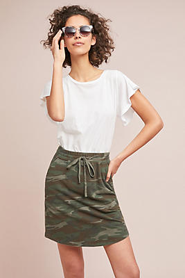 Slide View: 1: Casual Camo Skirt