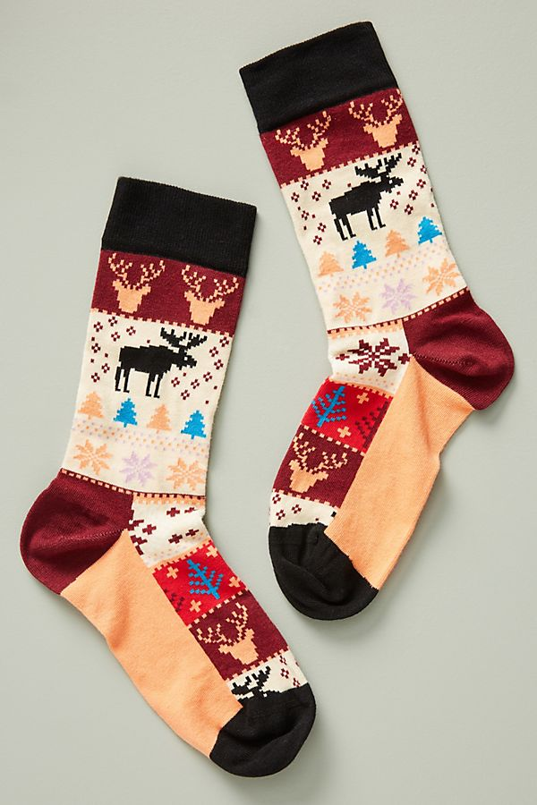 Holiday Fair Isle Socks | Anthropologie
