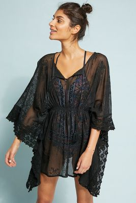 Concha Embroidered Caftan by Anthropologie