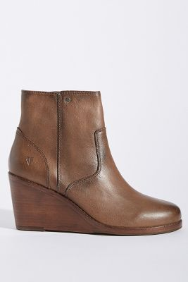 Frye Emma Wedge Booties by Anthropologie