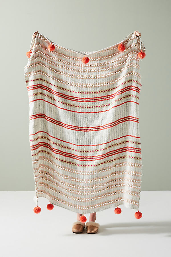 Simone Throw Blanket - Orange