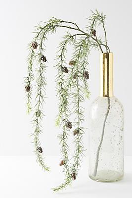 Slide View: 1: Glittering Hanging Pine Vine