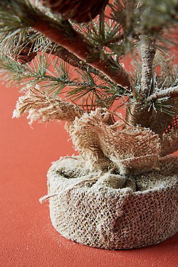 glittered faux tree