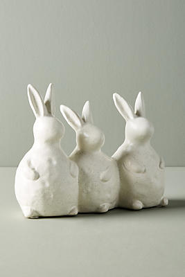 Slide View: 1: Bunny Trio Decorative Object