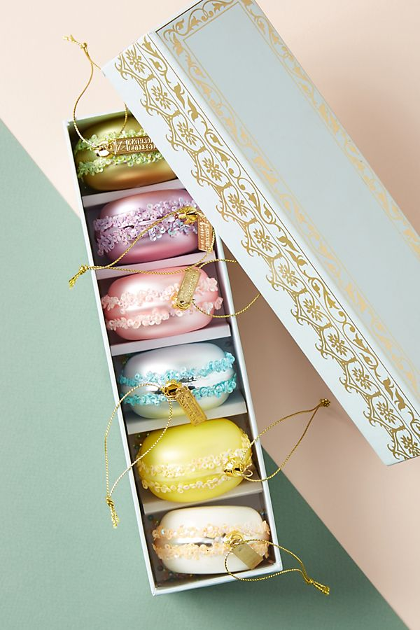 Macaron Ornaments, Set of 6 | Anthropologie
