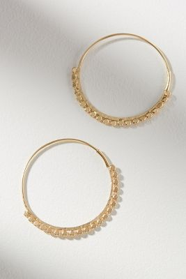 Glenn Scalloped Hoop Earrings by Anthropologie