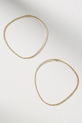 Vienna Oval Hoop Earrings by Anthropologie